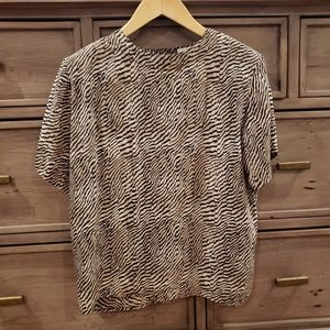 ANNA AND FRANK BLOUSE 100% Silk Size S